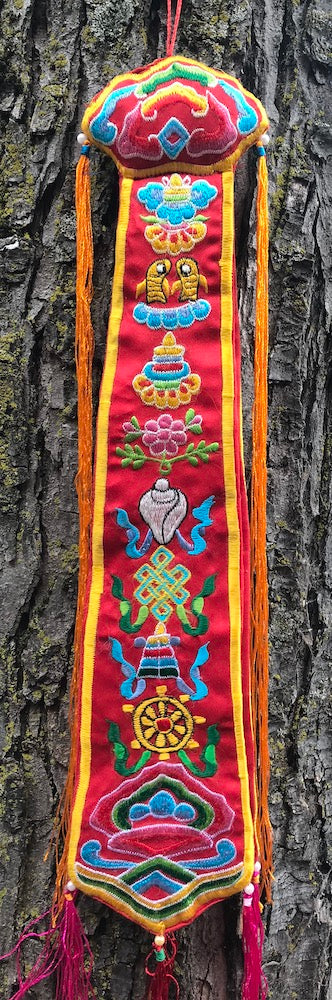 Eight Auspicious Symbols Damaru Tail Large #4