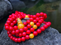 Dyed Coral Adjustable Small #6