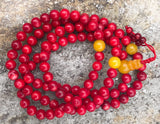 Dyed Coral Adjustable Lg #17