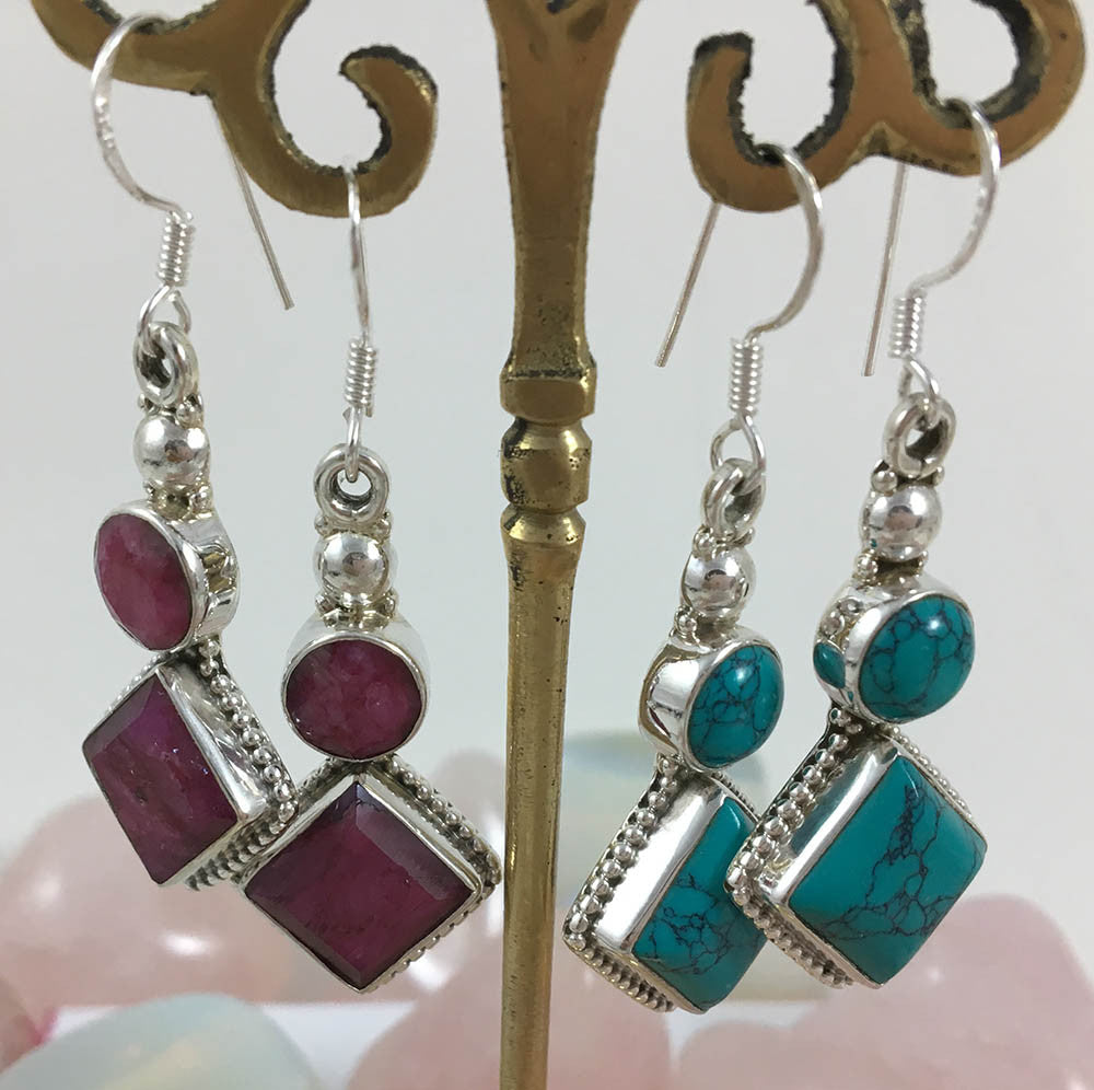 Turquoise Mantra Earring #6