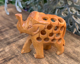 Wooden Elephant Carved #1