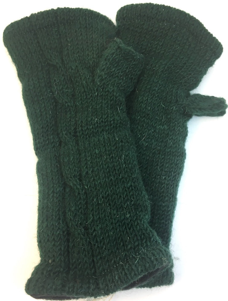 Fingerless Glove Green