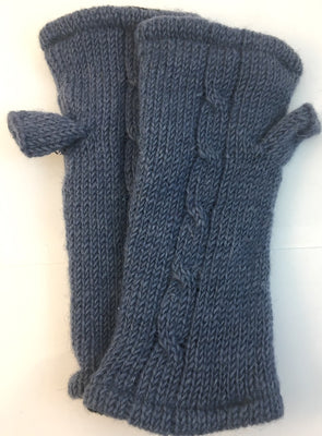 Fingerless Glove Blue-Grey
