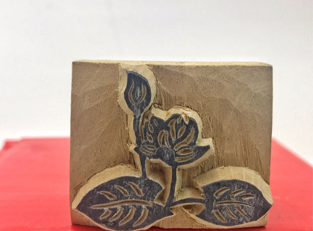 Flower Wood Stamp  #22