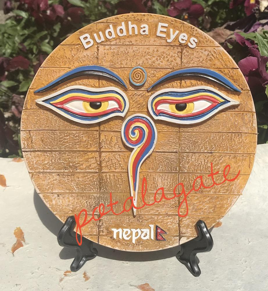 Buddha Eye Commemorative Plate