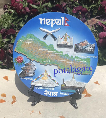 Nepal Valley Commemorative Plate