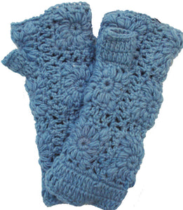 Light Blue Fingerless Glove