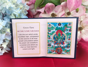 Green Tara Folding Thangka #4a