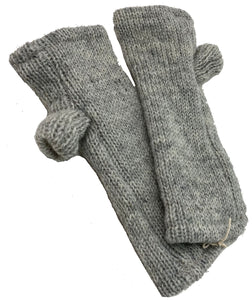Fingerless Glove in Grey