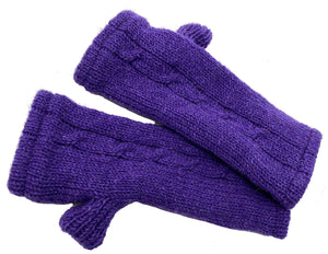 Fingerless Glove in Purple