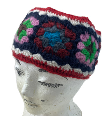 Wool Headband-Red