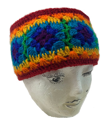 Wool Headband-Rainbow Color