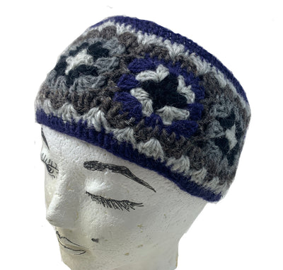 Wool Headband with Blue lining