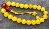 Honey Jade Wrist Mala: Adjustable #7