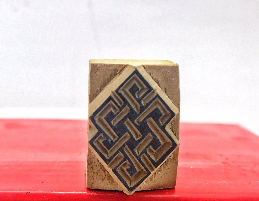 Infinite Knot Wood Stamp #11