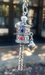 Prayer Wheel Key Charm
