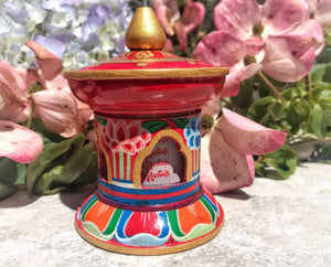 Lotus Prayer  Wheel Medium # 1
