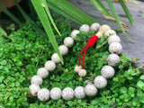 Lotus Seed Wrist Mala with Red Cord #15