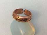 Copper Mantra Ring #7