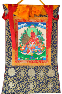 Red Tara Thangka Medium