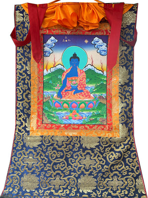 Medicine Buddha Thangka Medium