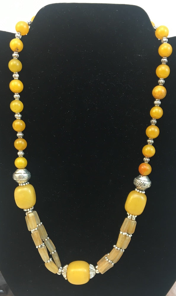 Yellow Amber Necklace #53