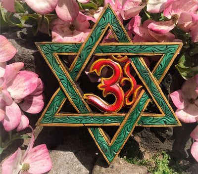Om with Star Wall Hanging #4