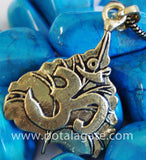 Om on Leaf Pendant #7