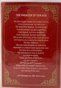 Paradox of Our Age Card