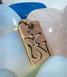 Om Copper Pendant #47