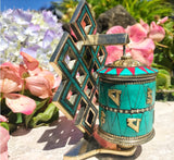 Jeweled Prayer Wheel with Endless Knot #4