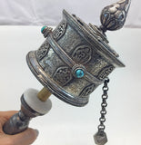 Silver Prayer Wheel #9