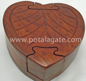 Heart Shape Puzzle Box#3