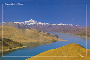 YAMDROK TSO LAKE POST CARD #9_