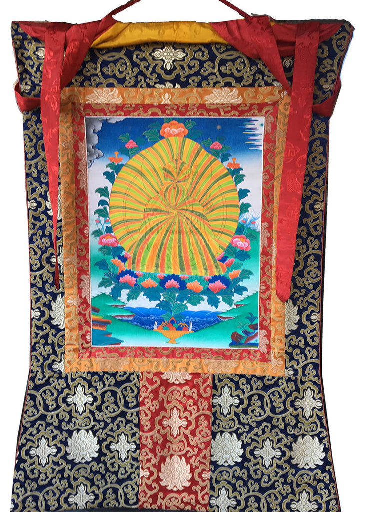 Hand Painted Thangka of Rainbow Guru Rinpoche.