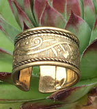 Elegant Brass Ring #13
