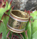 Peace Brass Ring #15