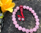 Rose Quartz Wrist Mala: Adjustable #13