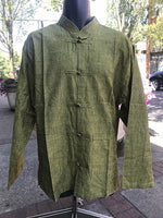 Tibetan Elegant Shirt: Forest Green #14