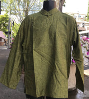 Tibetan Shirt: Forest Green #27
