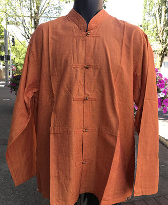 Tibetan Elegant Shirt: Orange #28