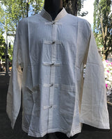 Tibetan Elegant Shirt: Off White #12