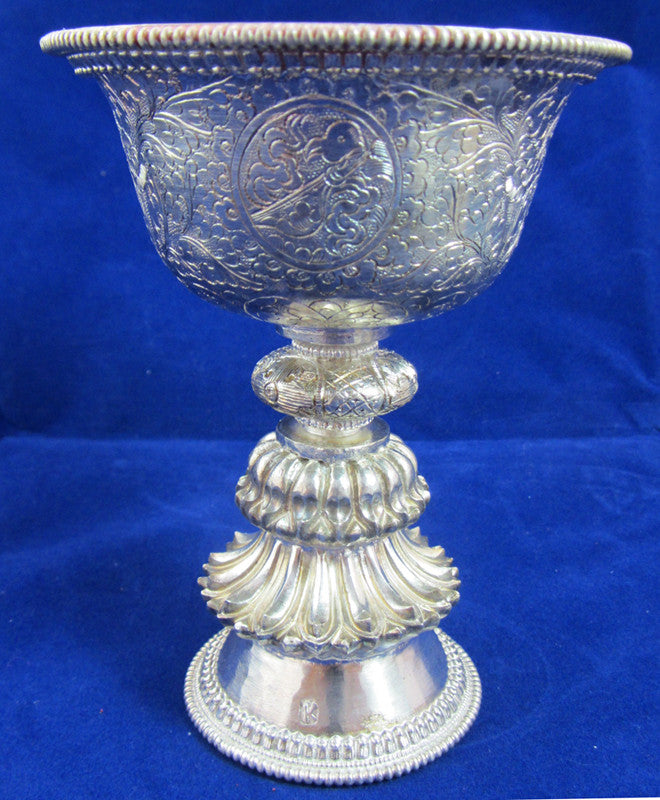 Pure Silver Butter Lamp large #16