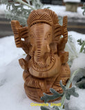 Ganesh: Carved Wood #39