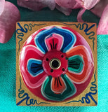 Square Flower Burner #18