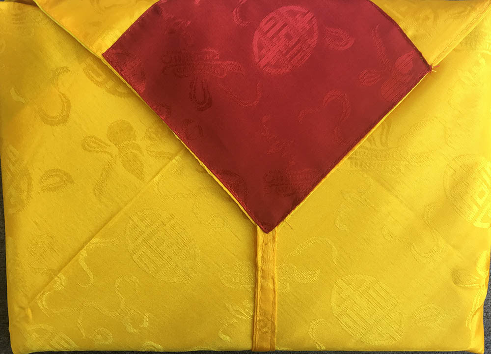 Lined Silk Wrap Tibetan Text Cover #4