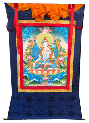 White Tara Thangka  #13
