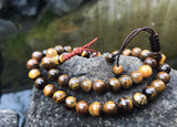 Tiger Eye Wrist Mala: Adjustable #14