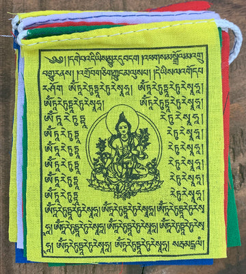 Green Tara Tiny Flag
