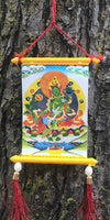Green Tara Tiny Thangka